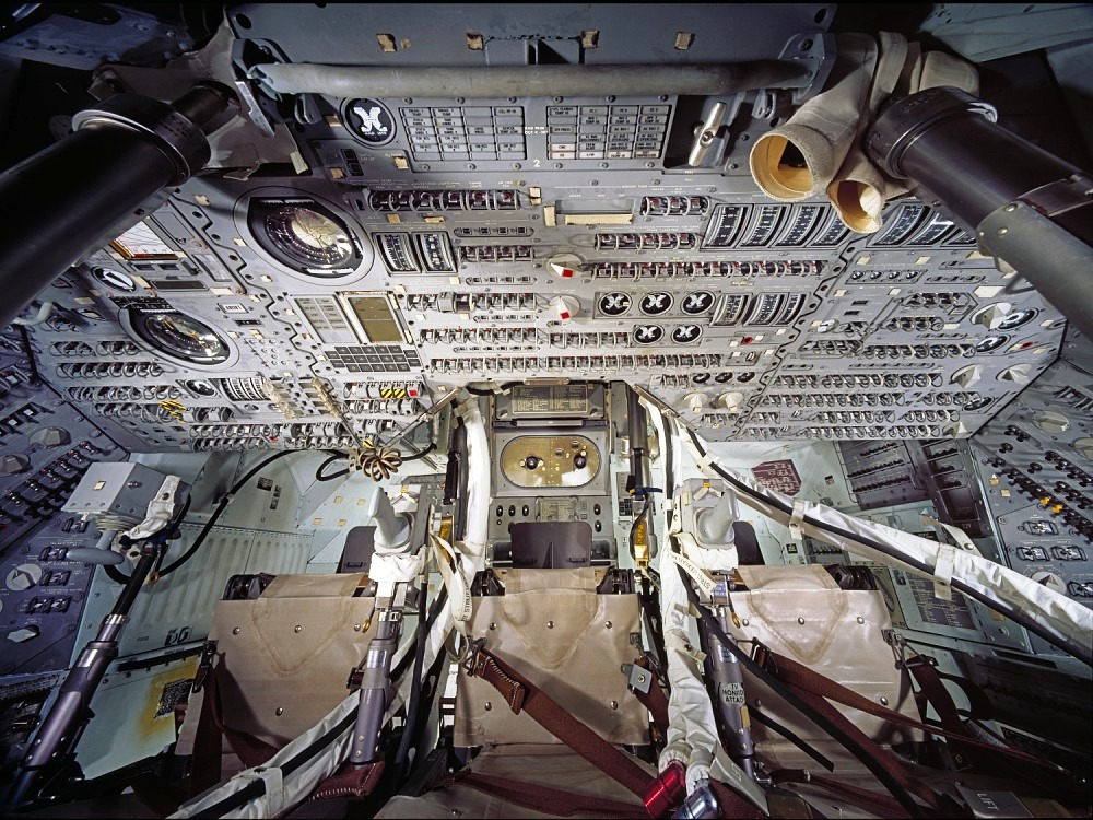 apollo 11 command module interior