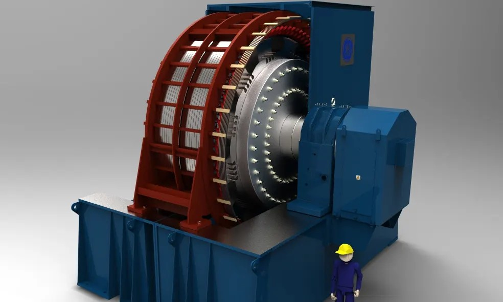 giant flywheel prototype
