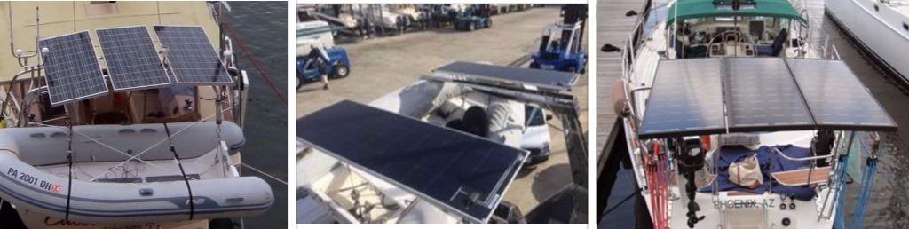 Davit solar panel